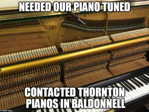 needed our piano tuned
